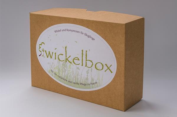 Wickelbox für Säuglinge für Wickel und Kompressen